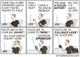 Customer Service Bots cartoon
