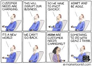 Changing Customer Needs cartoon