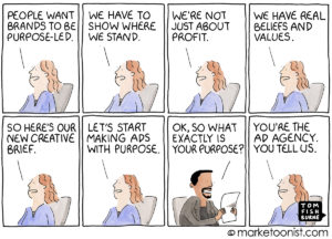 brand purpose marketing cartoon