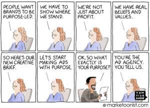 brand purpose marketing cartoon