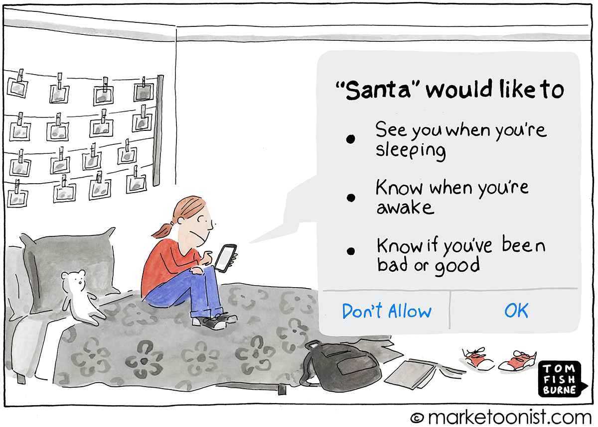 Consumer Privacy cartoon
