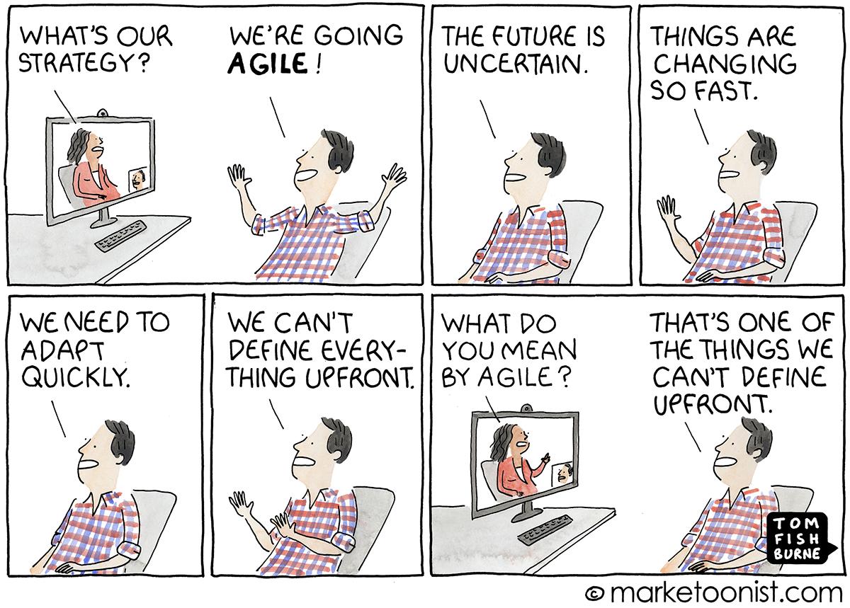 going agile cartoon
