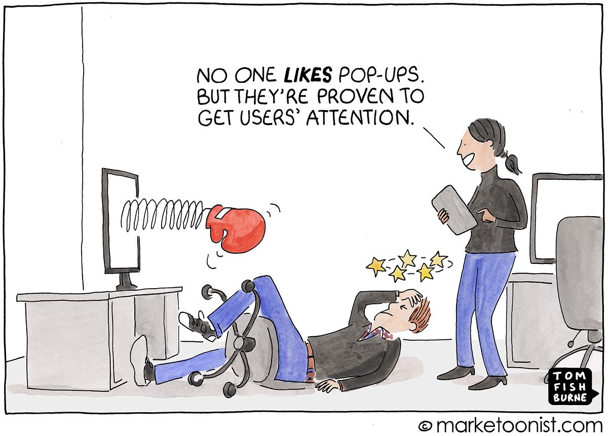 pop-ups cartoon