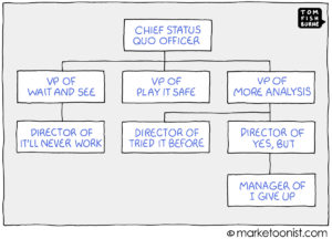 Chief Status Quo Officer cartoon