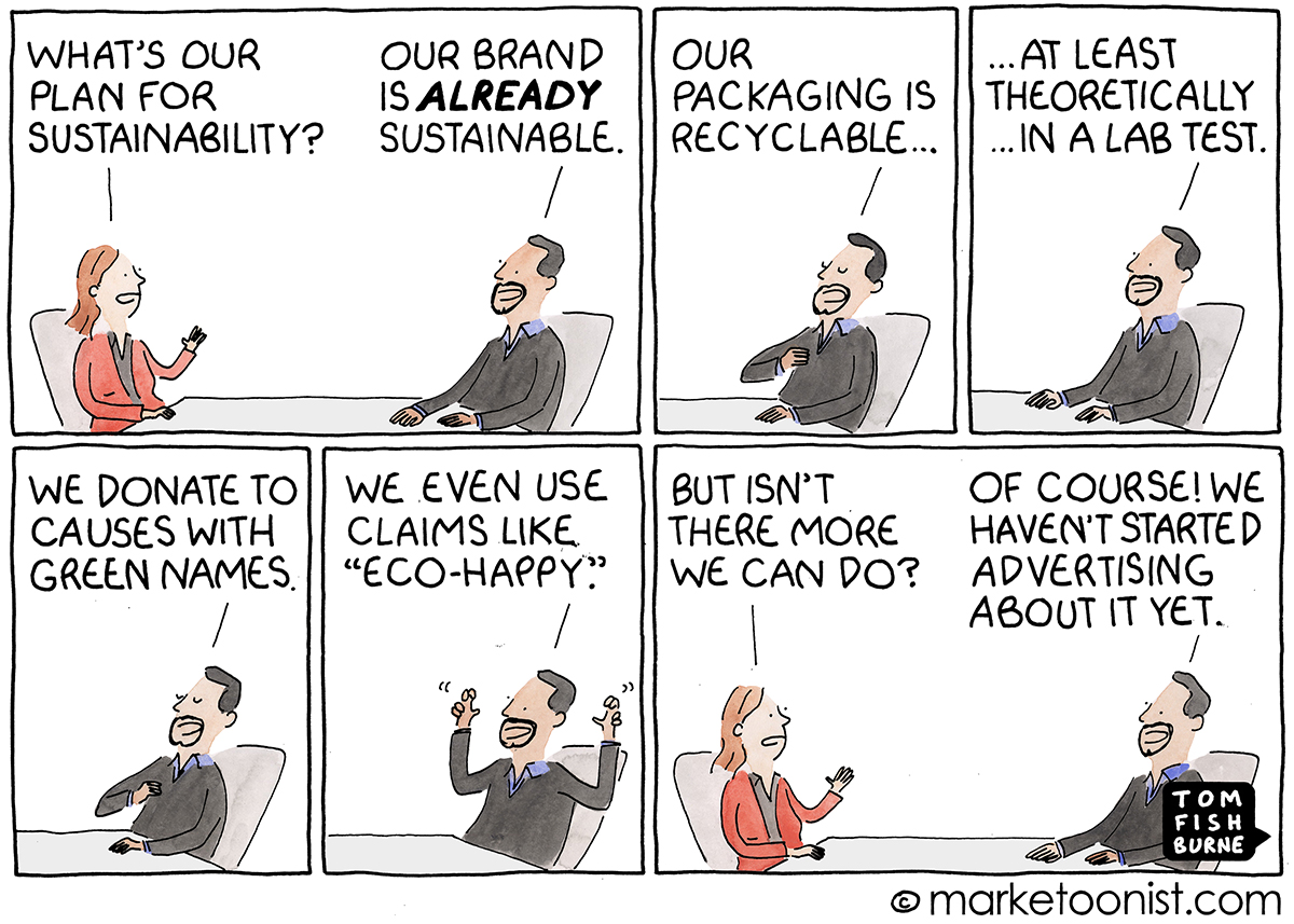 Sustainability cartoon