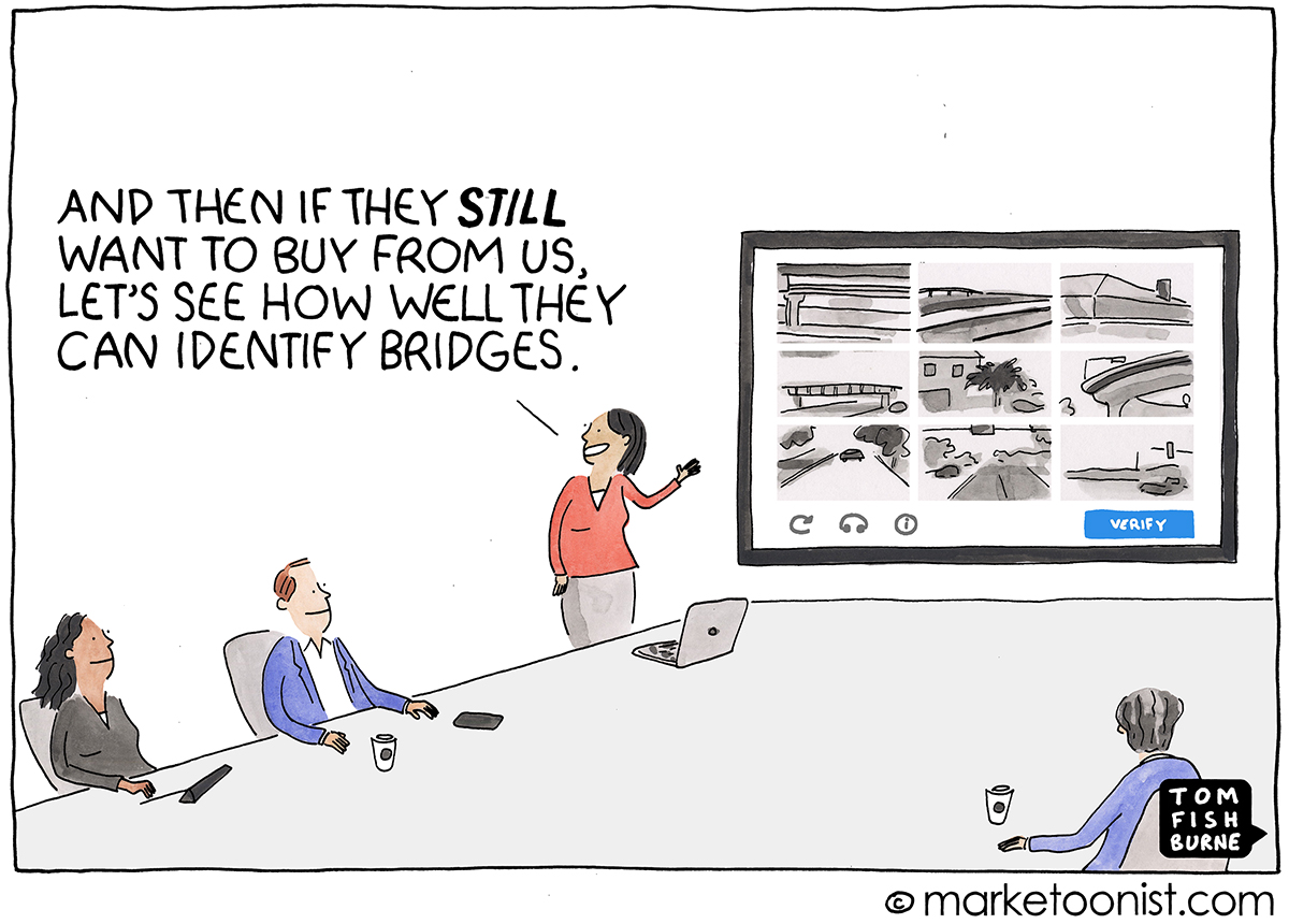 Customer Experience Friction cartoon