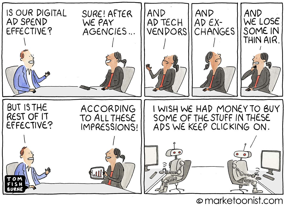 digital advertising cartoon