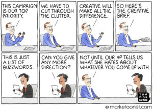 Creative Brief Gap cartoon