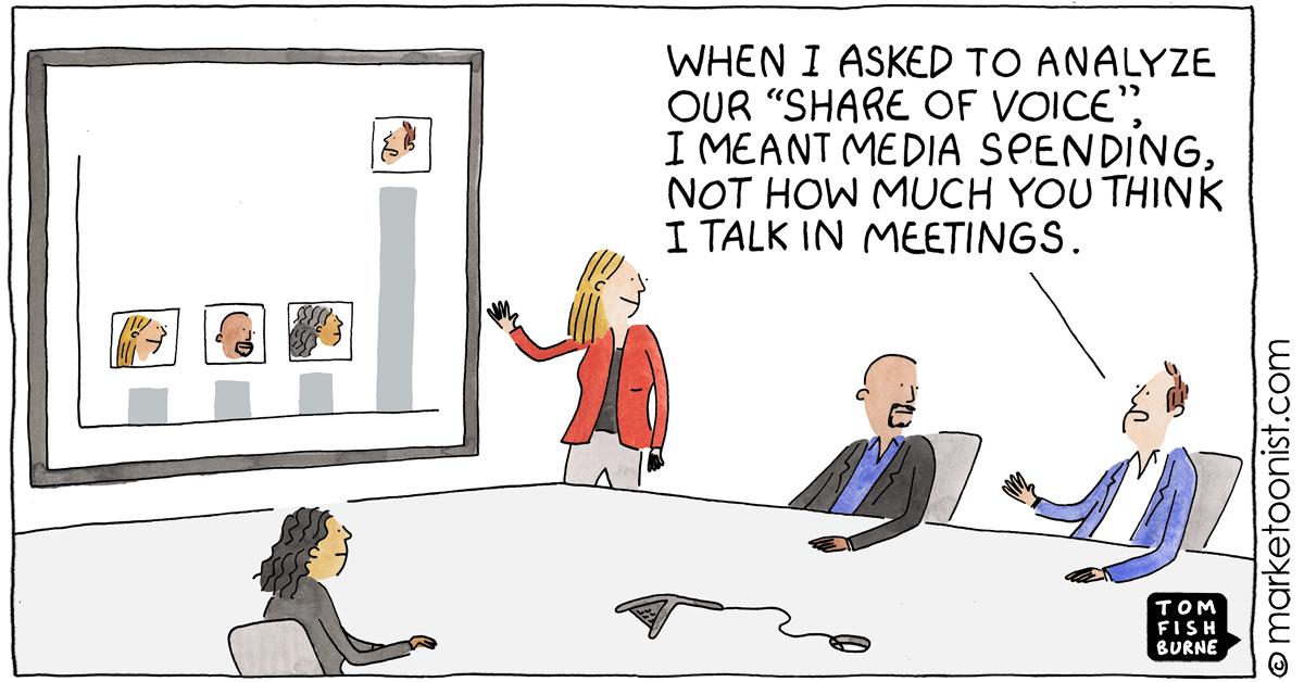Share of Voice cartoon